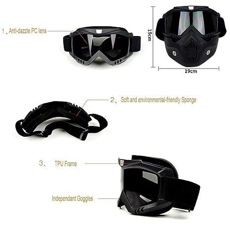 f26f834d68 Gafas de motocross y boca Filtro desmontable modular open Face Shield casco  de la motocicleta máscara