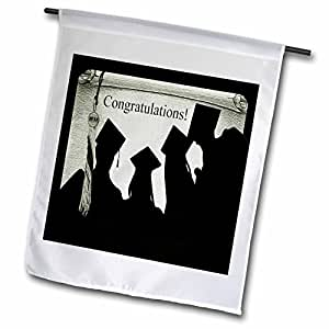 Beverly Turner Graduation Design - Graduation Congratulations 2012, Green - 18 x 27 inch Garden Flag (fl_49173_2)