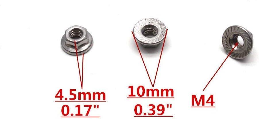 4PCS M4 LOCK NUT Nylon 1747 For RC Racing 1//10 Traxxas SLASH 4x4 Stampede
