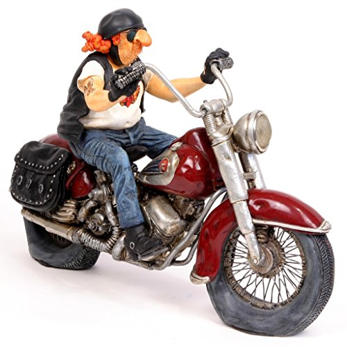 The Motorbike Figurine Comic Art Of Guillermo Forchino 10 1/5 Inch Length