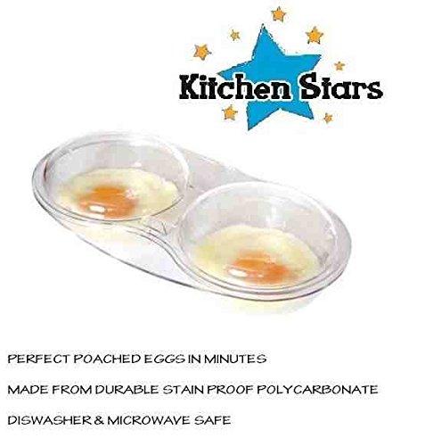 Escalfador de huevos con tapa para microondas, transparente ...