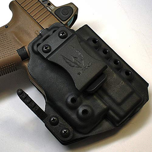 Werkz M6 Modular Holster for Glock 19 / 19x / 23/32 / 45 Gen 3/4/5 with Streamlight TLR-6 for Glock Railed Pistols, Ambidextrous, Right Hand Claw, Solid Black