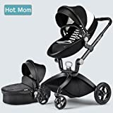 Cheap Multi-Functional 3 in 1 High-Landscape Baby Stroller Travel System 2017, Black