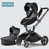 Multi-Functional 3 in 1 High-Landscape Baby Stroller Travel System 2017, Black