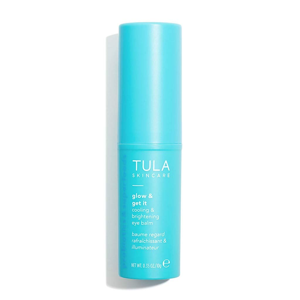 TULA Probiotic Skin Care Glow & Get It Cooling & Brightening Eye Balm | Dark Circle Under Eye Treatment, Instantly Hydrate and Brighten Undereye Area, Portable and Perfect to Use On-the-go| 0.35 oz