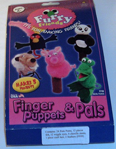 FURRY FRIENDS FINGER PUPPETS & PALS CRAFT KIT (Pal Furry)