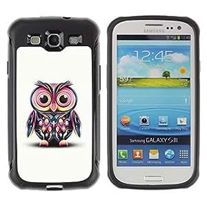 Fuerte Suave TPU GEL Caso Carcasa de Protección Funda para Samsung Galaxy S3 I9300 / Business Style Cute Colorful Big Eye Owl