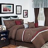 Lavish Home 24-Piece Briella Bed-in-a-Bag Bedroom Set, Queen