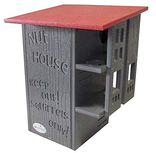 JCs Wildlife Ultimate Squirrel House Nesting Box (Red/Gray) by JCs Wildlife (Image #5)