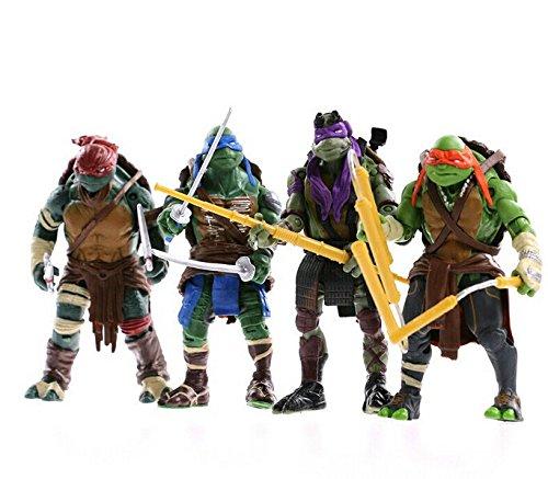 4 pcs/lot 12cm Teenage Mutant Ninja Turtles PVC Action Figure Toys