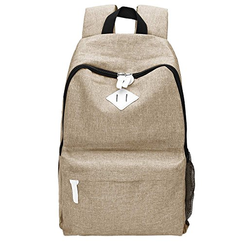 Canvas Backpack, Bagerly Casual Laptop School Bag Satchel Dayback (Blue Ninja Turtle Name)