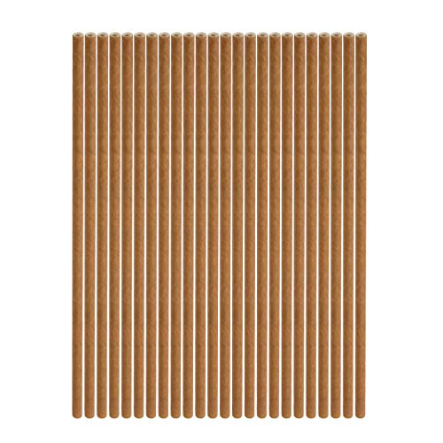 Baby Shower Coffee - QianGen Biodegradable Paper Straws,114 pcs,for Juice, Birthday, Wedding, Bridal/Baby Shower and Celebration Supplies etc - White, coffee, colored stripes (coffee)