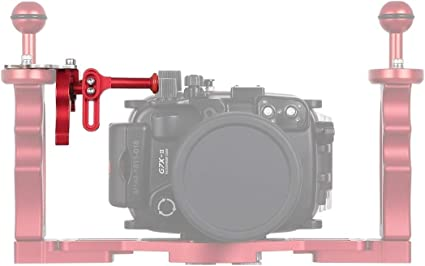Color : Black Red CAOMING Shutter Release Trigger Extension Adapter Lever Mount for Underwater Arm System Durable