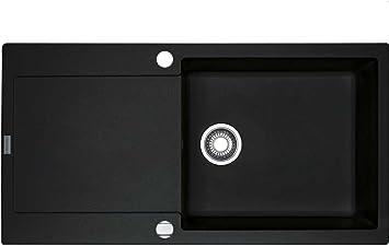 Franke Maris MRG 611-100 XL Onyx Schwarz Granit-Spüle Spülbecken  Küchen-Spüle