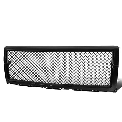 Gloss Grille Grill (AA Products Luxury Sport Mesh Grille Compatible Chevy Silverado 1500 2014 up to 2015 Front Hood Bumper Grill Grille ABS Gloss Black)