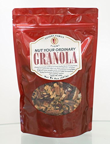 Guidry Family Farms Nut Your Ordinary Granola Homemade Small Batched Heart Healthy Blend Of Gluten Free Oats Pecans Cranberries Cinnamon Sunflower Seeds Pumpkin Seeds amp More Made With Love