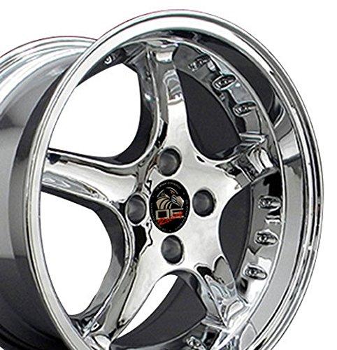 17-inch Fits Ford - Mustang 4-Lug Cobra R Deep Dish Aftermarket Wheels - Chro... Mustang Deep Dish Rims