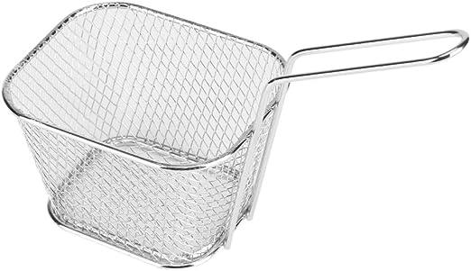 DGTRHTED Fry Basket - Pequeñas cestas de Metal Dorado para Servir ...