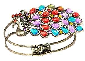 BONAMART ® Multi Vintage Colorful Crystal Peacock Bracelet Bangle By Buyincoins
