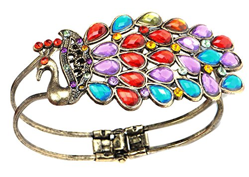 Leegoal Vintage Colorful Crystal Bracelet