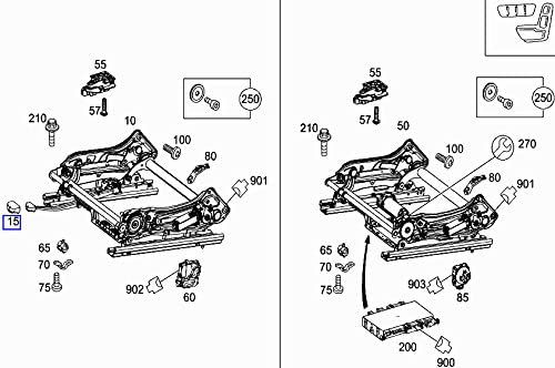 Mercedes Front Left Seat Adjuster Lever Handle Knob A2119191360