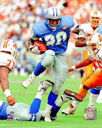 Barry Sanders Detroit Lions Action Photo (Size: 8