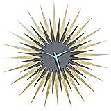 Metal Art Studio Atomic Era Maple Grey/Blue Decorative Wall Clock, Large