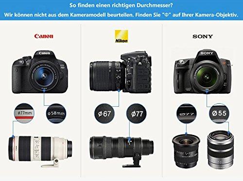 Henweit UV + CPL filtro de 52mm Panasonic Lumix DMC FZ62 FZ200 ...
