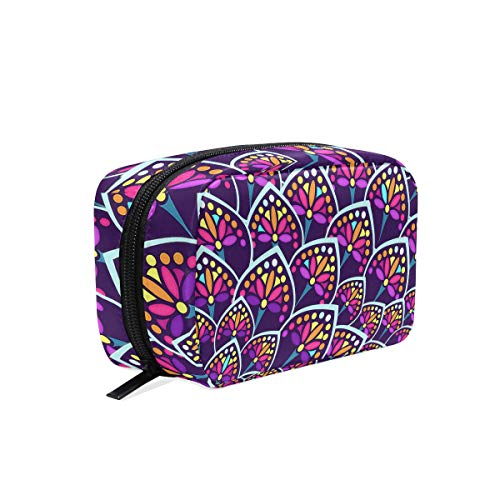 Cosmetic Bag Portable and Suitable for Travel Madeleine Pattern Make Up bag with Zipper Pencil Bag Pouch Wallet