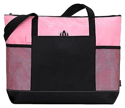 Gemline Shoulder Straps Front Pocket Zippered Tote Bag