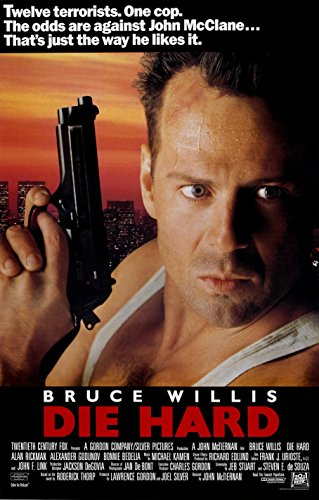 Die Hard (1988) Movie Poster Bruce Willis 24x36 - 1988 Poster