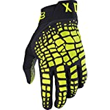 Fox Racing 360 Grav Adult Motox Motorcycle Gloves - Black/Yellow/Medium