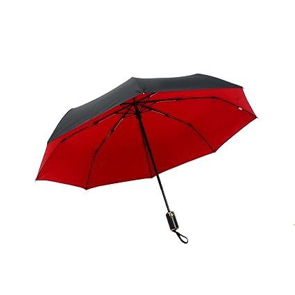 Paraguas doble paraguas creativo ultra ligero viento-reforzado paraguas (Color : Rojo)