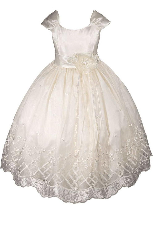 Amazon amj dresses inc big girls flower girl communion dress amazon amj dresses inc big girls flower girl communion dress special occasion dresses clothing ombrellifo Images