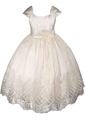 f35004951e0 Amazon.com: AMJ Dresses Inc Little-Girls' Flower Girl Communion ...