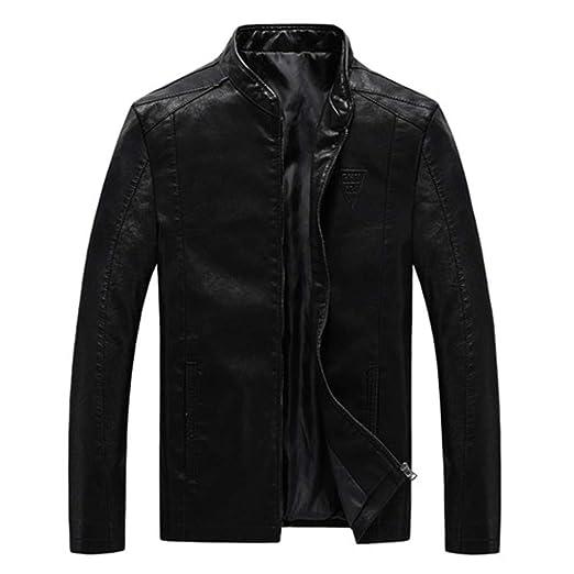 Amazon.com: Oudahood Mens PU Jackets Coats Motorcycle ...