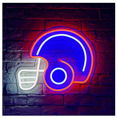 Football Helmet LED Neon Sign Lights (Red/Blue)