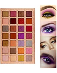 AFU Pigmented Eyeshadow Palette Matte + Shimmer 28 Colors...