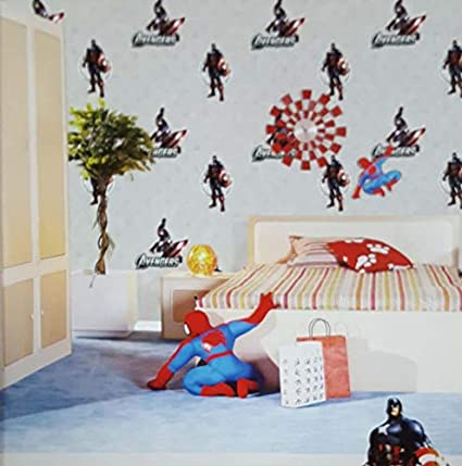 Jasmaira Wallcovering Super Hero Avengers Wallpaper For Boys