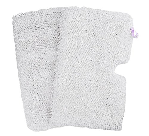 2 Pack Washable Shark Steam Mop Pads Replacement for S3500 series, S3501, S3601, S3550, S3901, S3801, SE450, White by haiyan