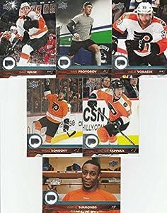 2017-18 Upper Deck Hockey Series 1 Philadelphia Flyers Team Set of 6 Cards: Wayne Simmonds(#139), Dale Weise(#140), Ivan Provorov(#141), Jakub Voracek(#142), Travis Konecny(#143), Valtteri Filppula(#144)