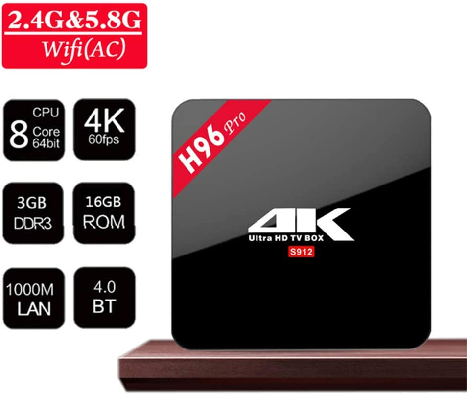 Smart TV Box, 4K HD Set Top Box, Display Android Player Red Digital Receptor 3 GB + 16 GB procesador de 4 núcleos de Cine en casa y el Juego Jugar: Amazon.es: Hogar