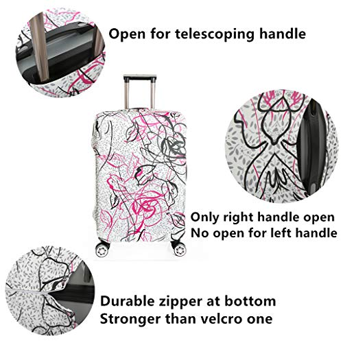 Fvstar Travel Washable Luggage Cover Spandex Suitcase Protective Covers Dust Proof Cover (L, Colorful 2)