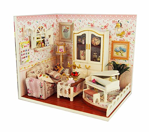 Cuteroom Kits Dollhouse Miniature DIY House Room Handcraft Valentine's Day/Birthday Gift--Deeply Love