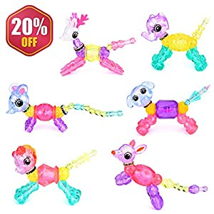 Troy Carnegie Magic Pets Bracelet Toy-Make a Bracelet or Create a Pet Surprise Festive Gifts for Kids (6 Pcs)