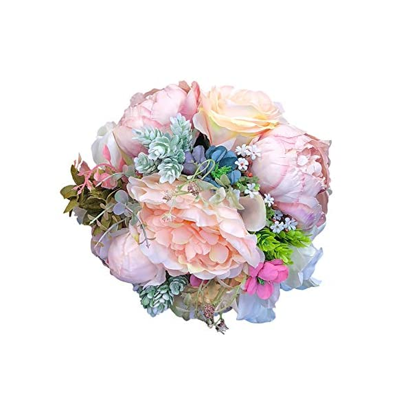 Abbie Home Peony Rose Dahlia Wedding Bouquet Bridesmaid Pink Blush Holding Flowers Valentines Gift
