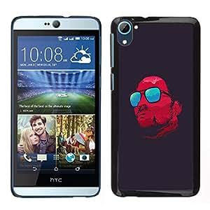 LECELL--Funda protectora / Cubierta / Piel For HTC Desire D826 -- Gafas rojas refrescan Satanás Oscuro --