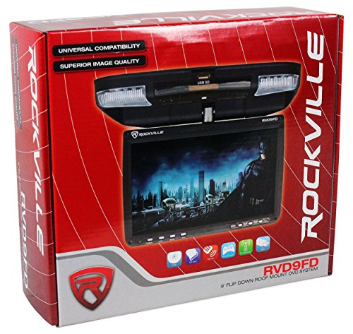 Rockville RVD9FD-BK 9'' Black Flip Down DVD Monitor w/ USB/SD+Wireless Headphones by Rockville (Image #6)