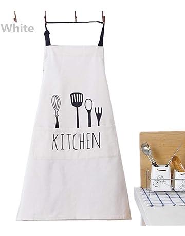 Fyuan Delantal Ajustable del Babero de con 1 Bolsillos Que Cocina los Delantales de la Cocina