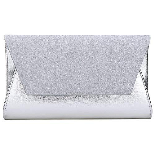 Silver Argent Simanli pour Pochette Femme Taille Unique Silver Argent 08HRw0q